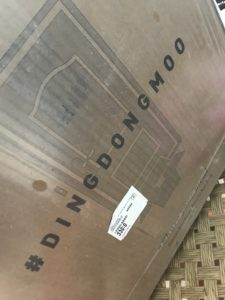 Butcher Box that says Ding Dong Moo on the side.