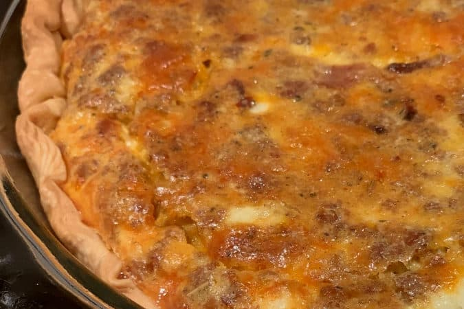 Bacon and Sausage Quiche: An Easy Recipe!