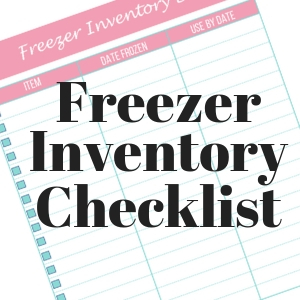 Freezer Inventory Checklist with Text Overlay