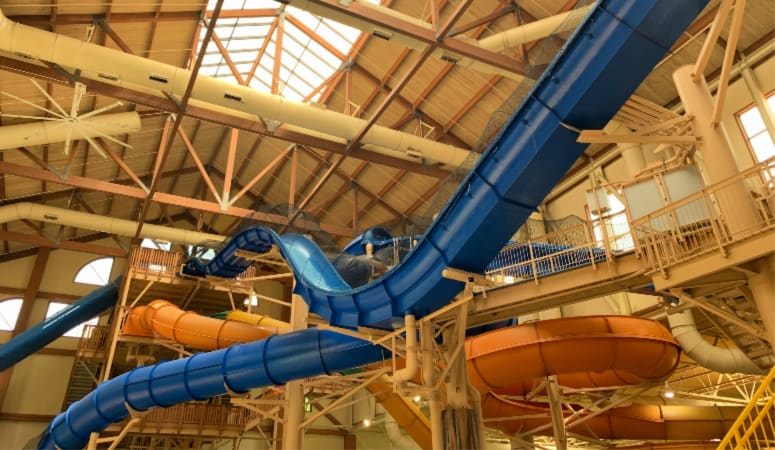 Hydro Plunge and Alberta Falls water slides