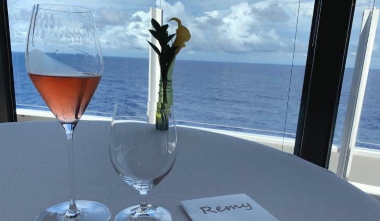 View overlooking the ocean