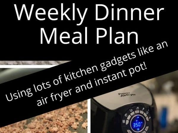 Weekly Dinner Meal Plan of 8/23